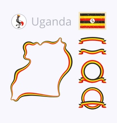 Colors of Uganda vector