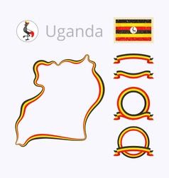 colors uganda vector image