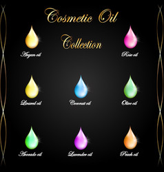 cosmetic oil drop collection 9 versions vector image