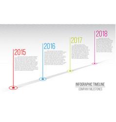 creative of company milestones vector image