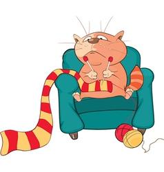 Cute Cat Cartoon Character vector