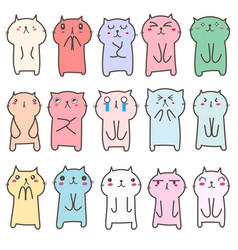 cute cat character design vector image