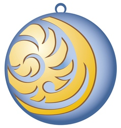 Decorating for christmas trees blue ball vector