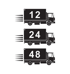 Delivery truck retro vector