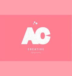 Design of alphabet letter logo ac a c combination vector