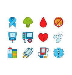 Diabetic medical symbols insulin syringe vector