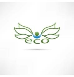 eco compani icon vector image vector image