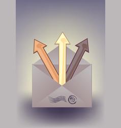 Envelope and arrows vector