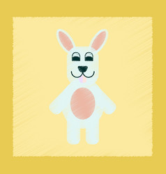 Flat shading style icon rabbit bunny vector
