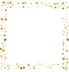 Frame gold stars on a white background vector