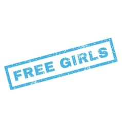 Free Girls Rubber Stamp vector image