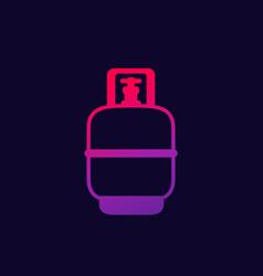 Gas cylinder lpg tank icon vector