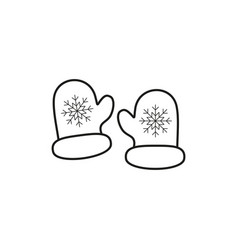 gloves with ornament icon vector image