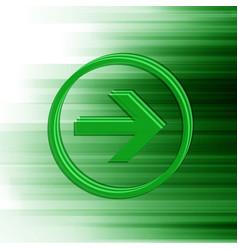 green arrow for web vector image