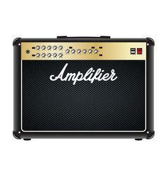 Guitar combo amplifier amp vector
