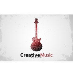 Guitar logo Creative guitar logo Music logo vector image