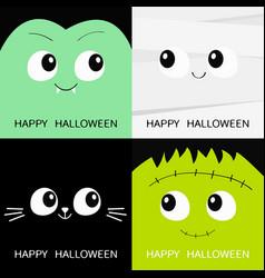 Happy halloween vampire count dracula mummy black vector