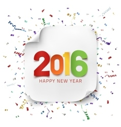 Happy New Year 2016 greeting card tenplate vector