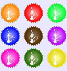 Hookah icon sign Big set of colorful diverse vector image