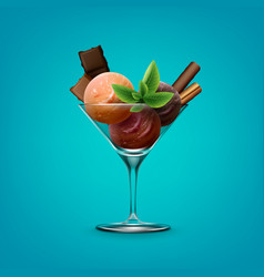 Ice cream in cup vector