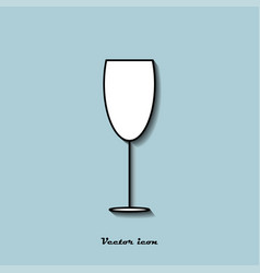icon glass of wine on a blue background vector image