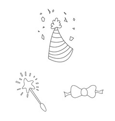 Isolated object of party and birthday logo set of vector