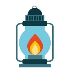 lamp fire kerosene icon vector image