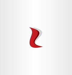 Letter l red logo font design vector