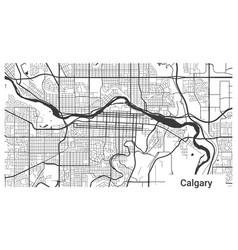 Map calgary city alberta canada horizontal vector