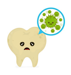 Microscopic caries bacterias and viruses vector