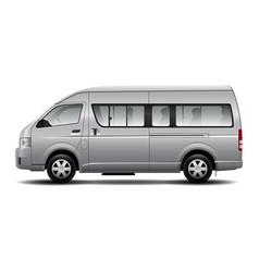 minibus car vector image