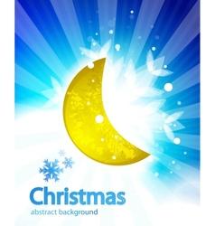 moon christmas background vector image