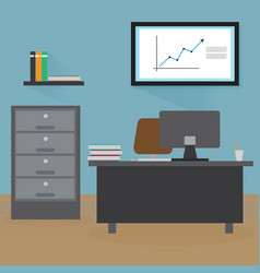 Office room flat design vector