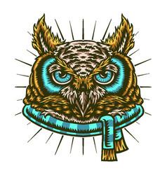 Owl winter vector