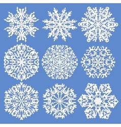 Paper snowflakes Set vector image