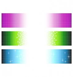 pixel banners vector image