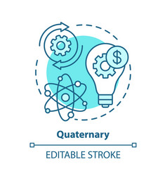 quaternary blue concept icon knowledge sector vector image