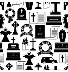 RIP and funeral background pattern vector