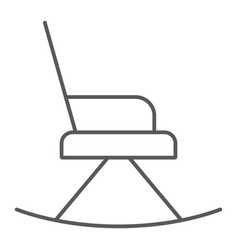 rocking chair thin line icon furniture and home vector image