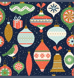 seamless pattern christmas decor can be used vector image