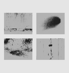 set of monochrome abstract grunge textures vector image