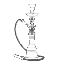 Shisha with pipe vector