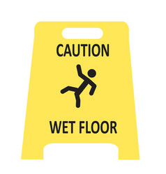 slippery wet floor icon vector image