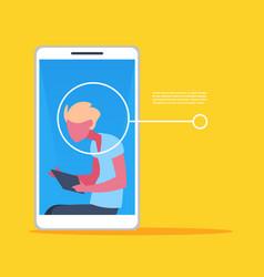 Smartphone application man face identification vector