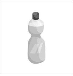 Sports water bottle icon black monochrome style vector image