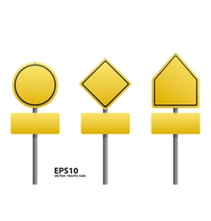 traffic sign yellow color vector image