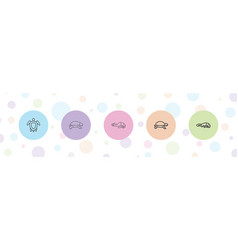 Turtle icons vector