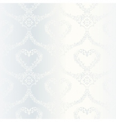 Victorian white satin wedding pattern vector