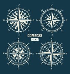 vintage marine wind rose nautical chart vector image
