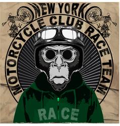 vintage motorcycle setskull riders motorbike set vector image